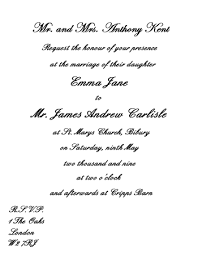 wedding invitation wording etiquette formal wedding announcement