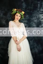 ivory lace bohemian wedding dress boho wedding dress long sleeve