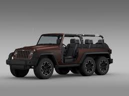 jeep wrangler 2 door modified jeep wrangler rubicon 6x6 2016 3d model cgtrader