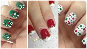 nail art christmas nail art designs easy nails freehand youtube