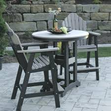 Patio Table Bar Height Bar Height Outdoor Dining Table Set 5 All Weather Wicker