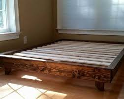 modern floating platform bed frame furniture pinterest