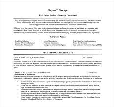 Real Estate Resume Sample by Sample Real Estate Resume 14 Download Free Documents In Pdf Word
