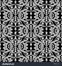 baroque isolated seamless patternantique vintage white stock