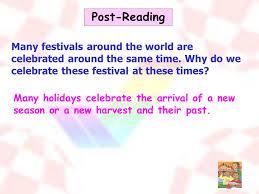 unit 14 festivals speaking reading ppt