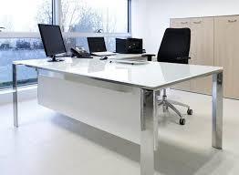 Office Desk Set Accessories Glass Office Desks From Calibre Furniture Within Desk Decor 3