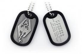 skyrim earrings the elder scrolls v skyrim dog tag merchandisemonkey
