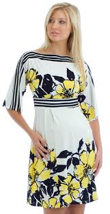 olian maternity yellow floral maternity dress