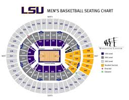Pepsi Center Map Lsu Men U0027s Basketball Seating Chart Pmac Lsusports Net The