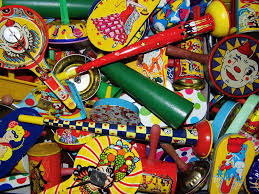 new year s noisemakers all set for new year s vintage tin noise makers by u s