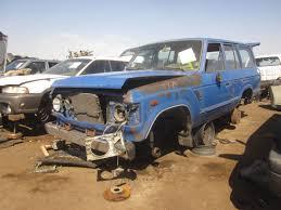 land cruiser pickup 1998 picked clean toyota land cruiser junkyard shoppers must move