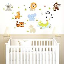 Boys Nursery Wall Decals Nursery Wall Decals Baby Zoo Animals Printed Wall Decals Nursery
