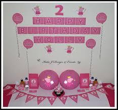 peppa pig decorations peppa pig personalised banner 39 best peppa pig party ideas