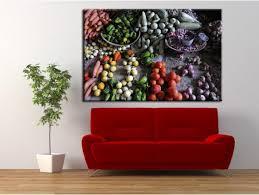 tableau cuisine étals de légumes déco murale à prix bas