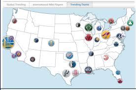 map of nba teams nba chico sports rambler