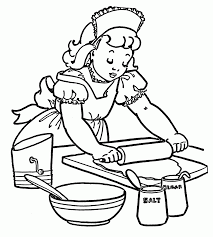 cooking coloring page kids coloring
