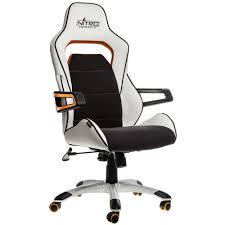 Gaming Swivel Chair E220 Evo Gaming Chair U2013 White Orange Nitro Concepts