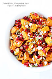 sweet potato pomegranate salad two peas their pod