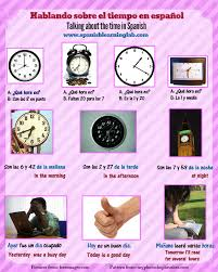 telling time in spanish phrases conversations and listening