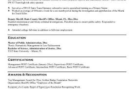 Law Enforcement Resume Examples by Law Enforcement Resume Samples Reentrycorps