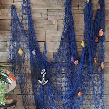 Fish Mediterranean Style Amazon Com Kingso Mediterranean Style Decorative Fish Net With