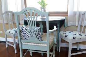 Refinish Dining Chairs Refinished Dining Chairs With Gray And Navy Blue Fabric Refresh Living