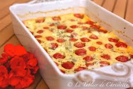 cuisiner les tomates cerises clafoutis aux tomates cerises et mozzarella le tablier de christelle