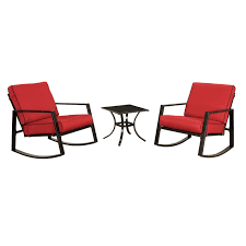 red rocking chairs with side table 3 piece set at home at home