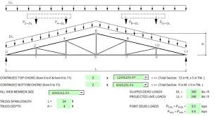 Wood Truss Design Software Free Download by Download Truss Design Spreadsheet Engineering Feed