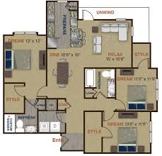 upscale community with 1 2 and 3 bedroom apartment homes c1 floor plan 7