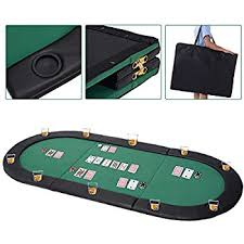 folding poker tables for sale amazon com fat cat tri fold poker game table top with cushioned