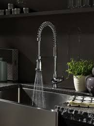 Kitchen Sink Faucets Goose Neck Faucet Stem And Large Sink For More Space Rinsing