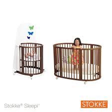 Stokke Mini Crib by Stokke Sleepi System 1 Convertible Round Crib Walnut Toys