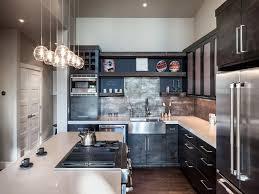 attractive interior small designer kitchen ideas with rustic brick
