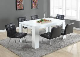 White Modern Dining Room Sets Amazon Com Monarch Specialties White Hollow Core Dining Table
