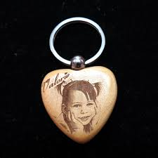 wooden personalized gifts engraved wooden photo key chains enchanted memories custom