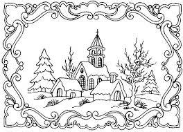 Coloriage Paysage Adulte dessin gratuit à imprimer