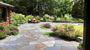 pictures garden design london natural sandstone paving patio small