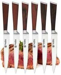 premium kitchen knives amazon com tyrellex steak knives premium steak knife set 6