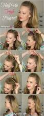 hairstyle tutorials for medium length hair 22 half up hairstyle tutorials to try top knots gurl com