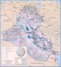 Baghdad World Map by Iraq Physical Map 2003 Full Size