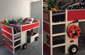 Fire Engine Bed Kid Friendly Diys Featuring The Ikea Kura Bed
