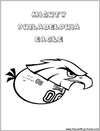mightyphiladelphiaeagle coloring page