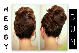 cool step by step hairstyles cute everyday school hairstyles big messy bun with braids