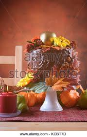 beautiful thanksgiving fall table setting with autumn theme