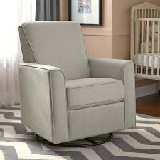 Nursery Decoration Ideas by Furniture Grey Swivel Nursery Recliner With White Wall And Grey