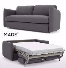 memory foam sofa bed made fletcher 3 seater sofa bed with memory foam mattress marl grey