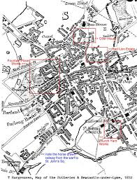 map of newcastle lyme map of the potteries and newcastle lyme 1832