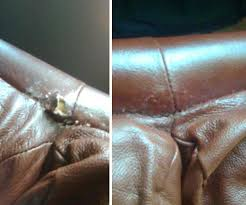 Leather Sofa Repair Service Leather Furniture Repairs Color Matching Before And After Images