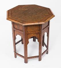 fabulous anglo indian brass inlaid hardwood occasional coffee table